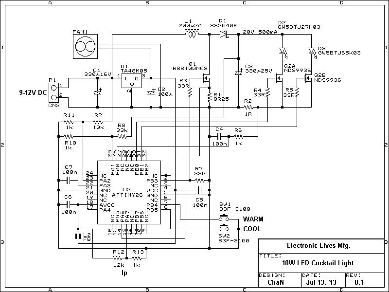 LEDカクテル・ライトの製作