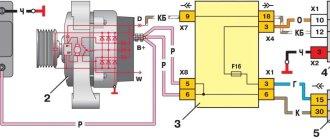 Проводка генератора ВАЗ