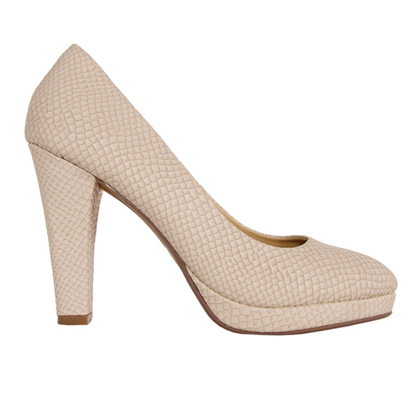 10cm Zapatos tacn saln piel de serpiente  beige ODGITRENDS 728061B7200BEIGE