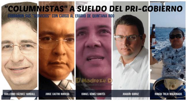 Columnistas a sueldo del PRI-Gobierno