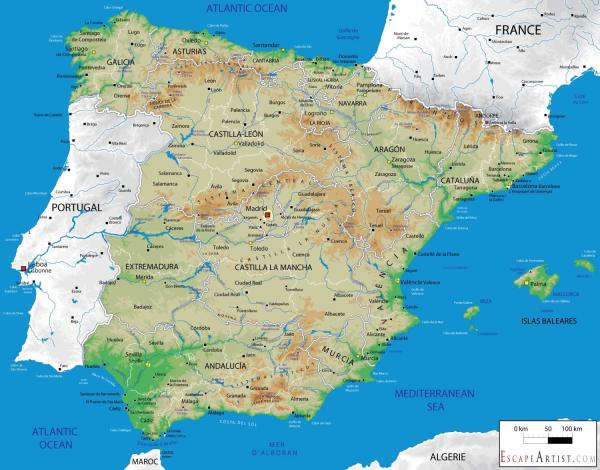 Map Of Spain 1500.25 Spain Landscape Map Pictures And Ideas On Pro Landscape