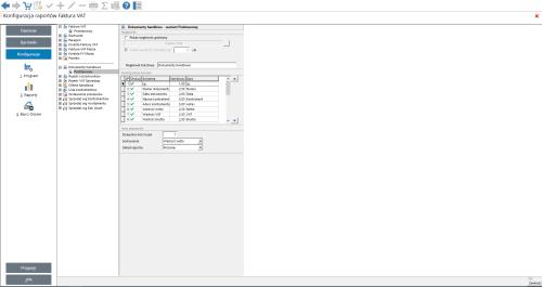 Konfiguracja wydruku zestawienia dokumentów handlowych