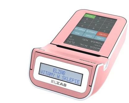 Kasa fiskalna ELZAB K10 - różowo-biała