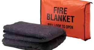 كيفية إستخدام بطانية الحريق في الحرائق المنزلية