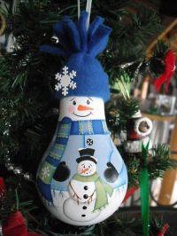 Como decorar bombillas navideas