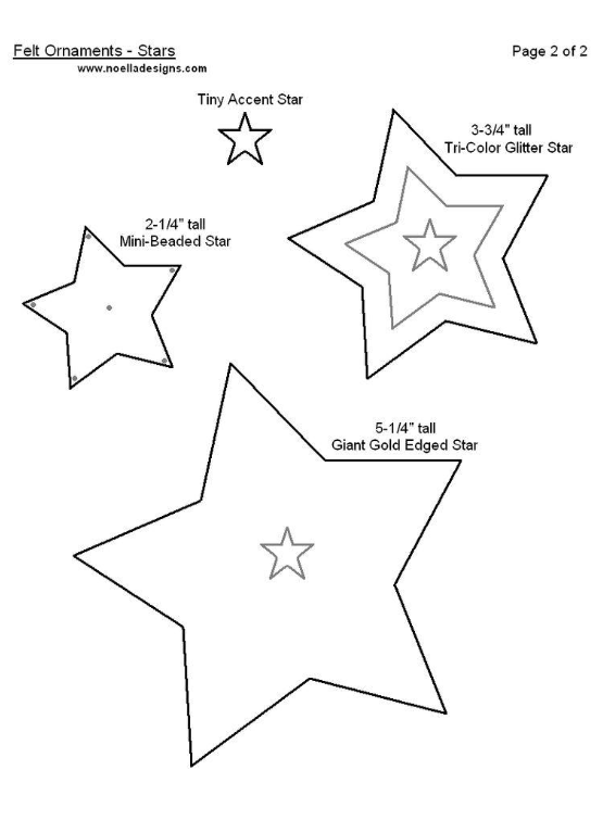 Moldes estrellas navideñas en fieltro