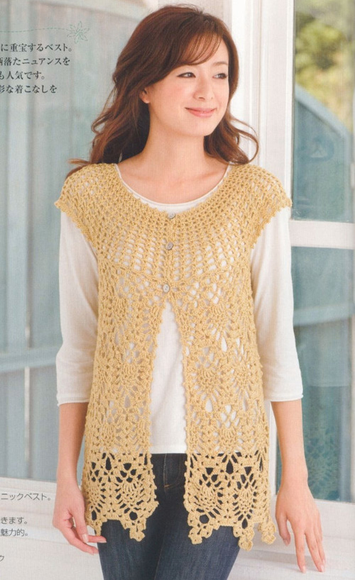 Chalecos tejidos a crochet para mujer