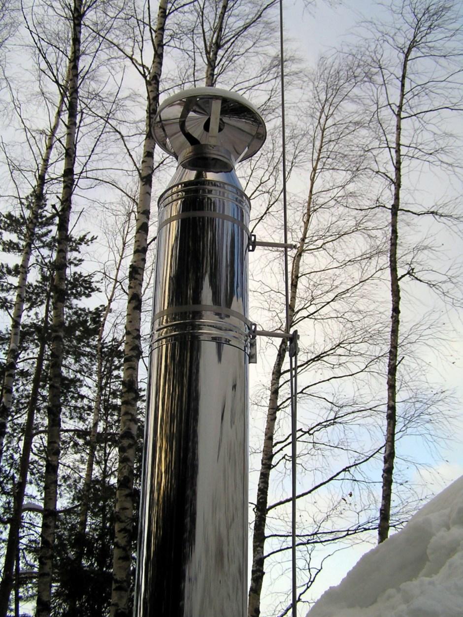 Крепление бандажной лентой молниеприемника стержневого сборного МСС-3.8КЛ-1500-150Н