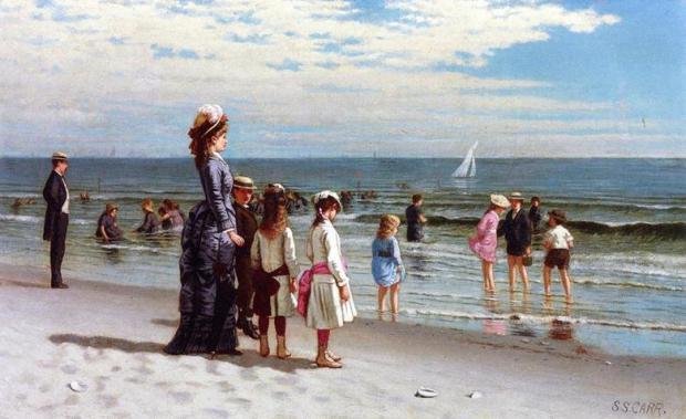صامويل كار، الشاطئ في جزيرة كوني 1837-1809