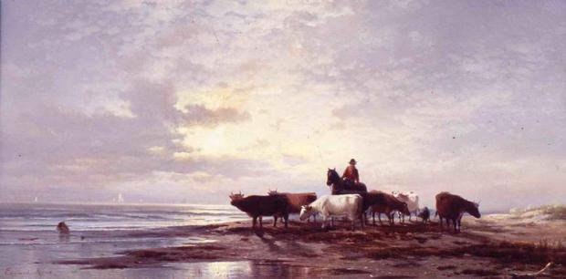 إدوارد موران، صباح باكرعلى الشاطئ الجنوبي من جزيرة ستاتن 1873-1875