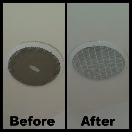 how to clean your exhaust fan cover