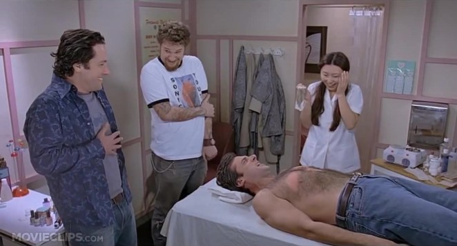 Resultado de imagen para 40-year old virgin waxing
