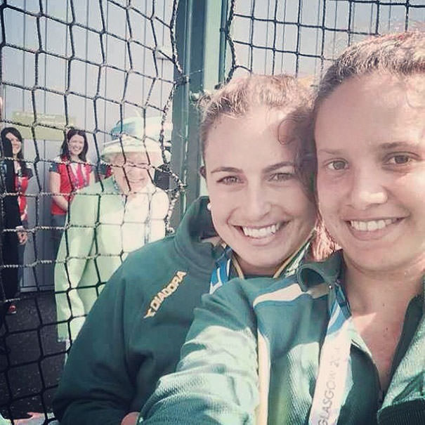 Queen Elizabeth Deciding To Join In On Australian Field Hockey Player Jayde Taylor