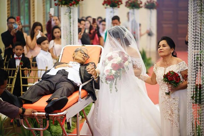 Dying Father Fulfills Last Wish To Walk Daughter Down The Aisle On Her Wedding Day
