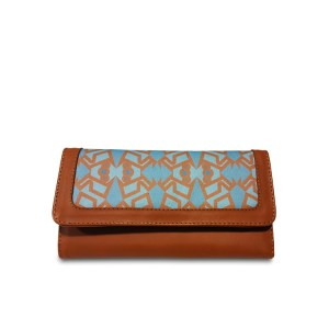 sky blue printed wallet