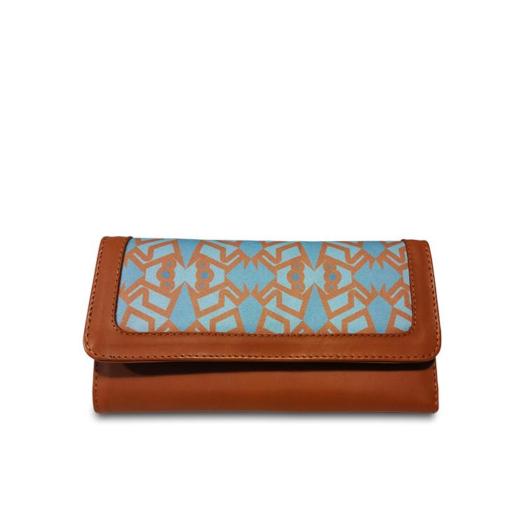 sky blue printed wallet