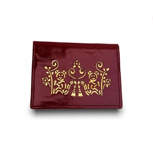 patent leather cardholder