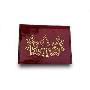 patent leather cardholder