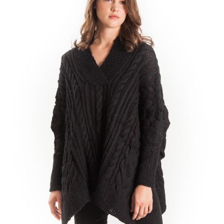 Poncho Sweater Alpaca wool