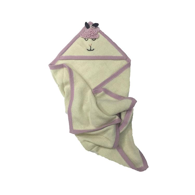 Hooded Baby Blanket & Rattle Set