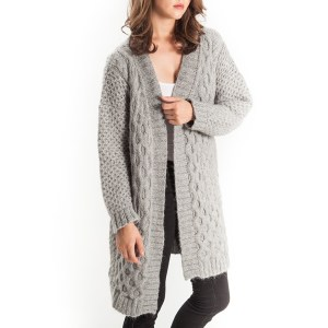 Monica Long Cable Knit Cardigan