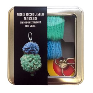 DIY Pompom Kit Cool Colors