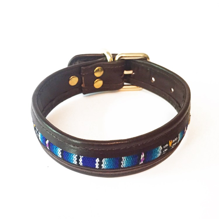 leather-textile dog collar
