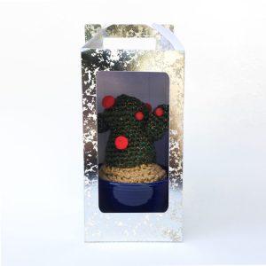 crochet cactus blue