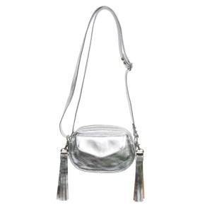 metallic tassel crossbody bag