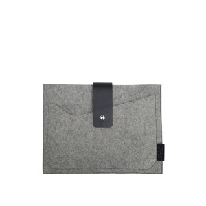 grey felt tablet case