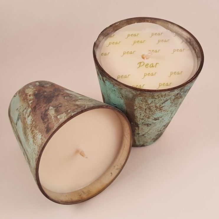 hand poured patina candles