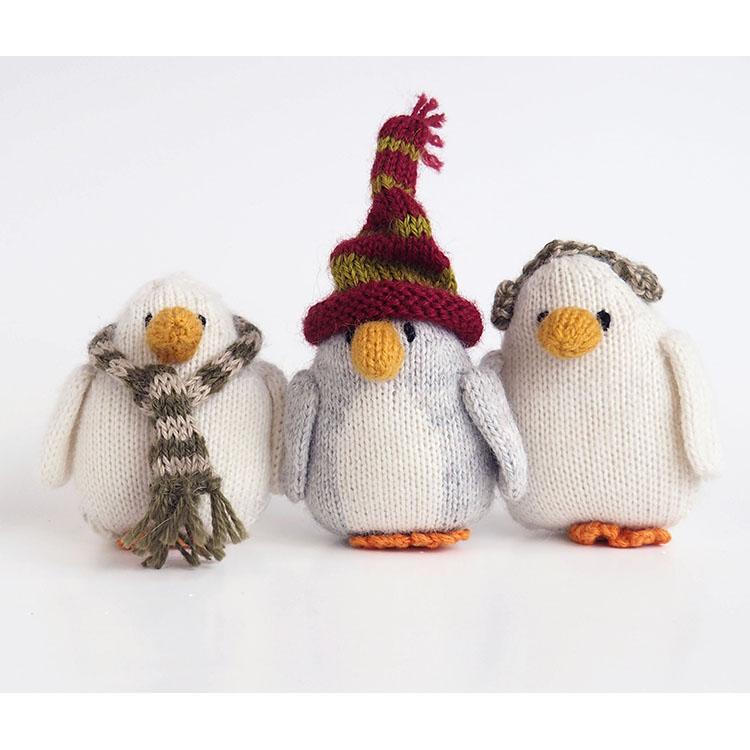 Penguins Ornaments Set Three Cotton & Fair Trade