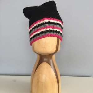 Michi Cat Ear beanie- Rainbow Alpaca BK