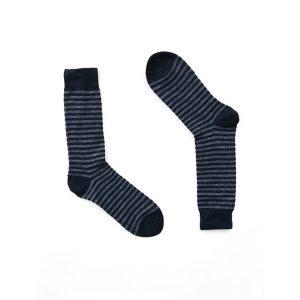 Black & Grey Stripes Alpaca Wool Socks