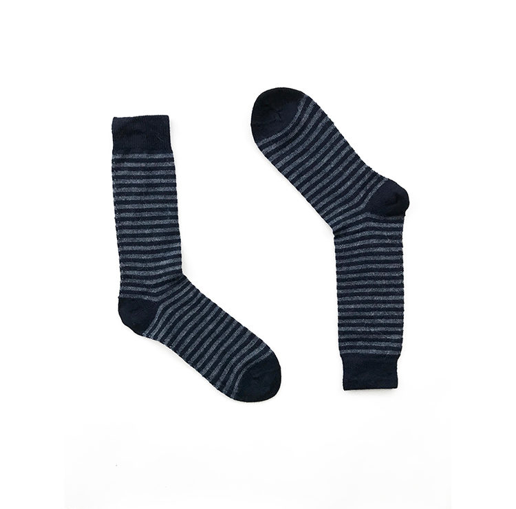 Black & Grey Stripes Alpaca Wool Socks