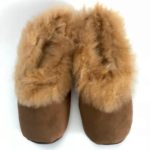Chocolate brown Alpaca Fur slippers