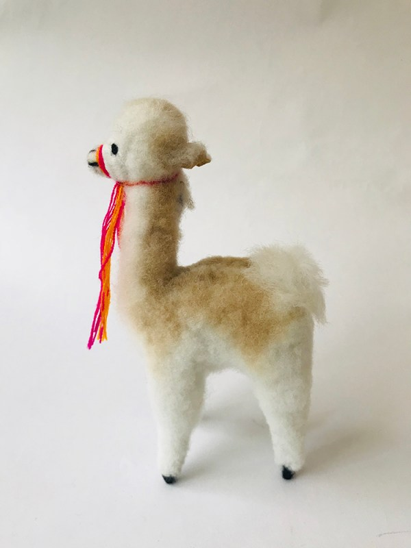 """Vicu"" the vicuña- Alpaca fur toy"