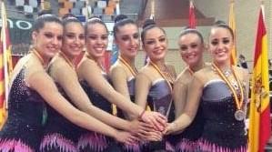 El equipo de gimnasia rítmica de Paterna, subcampeonas de España