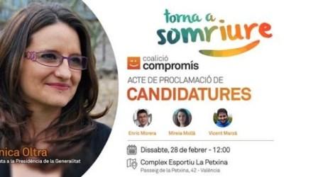 Mónica Oltra celebrará su proclamación oficial el sábado en Valencia