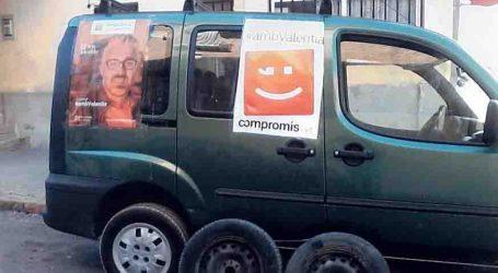 Sabotean la furgoneta de megafonía de Compromís per Paterna