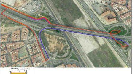 Las obras del Stop de Feycu de Xirivella, paralizadas por una línea de alta tensión
