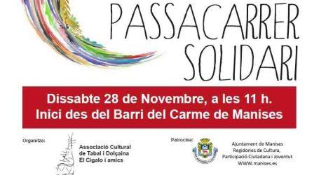 Cercavila solidària a Manises el proper dissabte