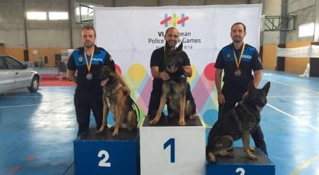 Medalla de Oro en defensa para la Unidad Canina de la Policía Local de Burjassot en los VI Juegos Europeos de Policías y Bomberos