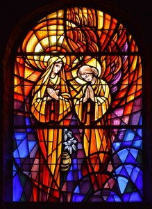 stained glass, festival, mary