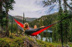 hammock, woman, female