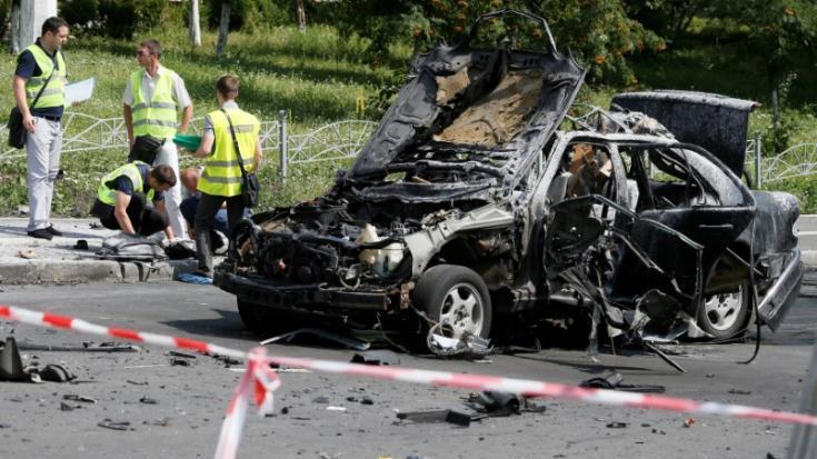 COCHE BOMBA MATA A UN CORONEL DE LA INTELIGENCIA UCRANIANA EN KIEV