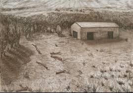 Pequeña muestra de los dibujos realizados por Yiyi Etchemendy, la nueva artista que estrena la Casa Museo Lino Enea Spilimbergo.