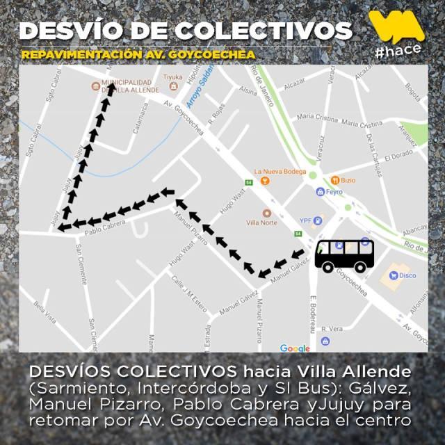 Nuevos rumbos para urbanos e interurbanos en Villa Allende 1