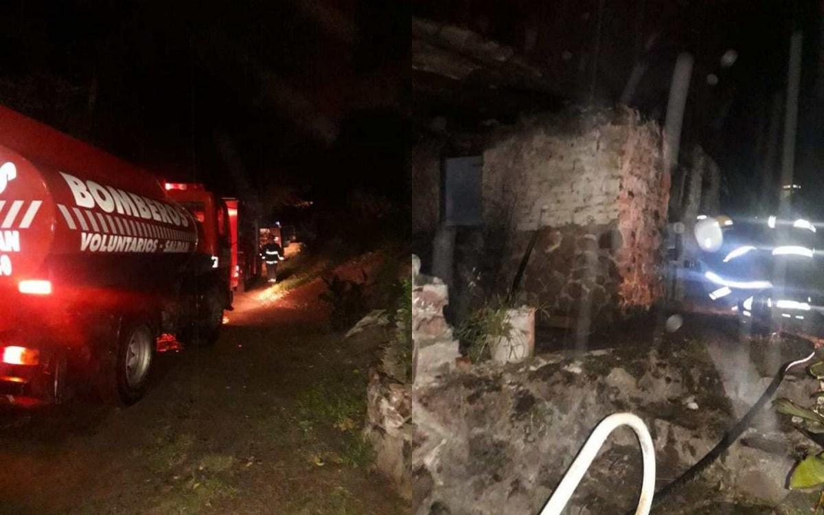 Incendio total en una vivienda de Villa Allende