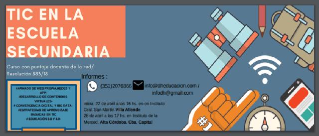 Cursos de TIC en Villa Allende con puntaje docente 4